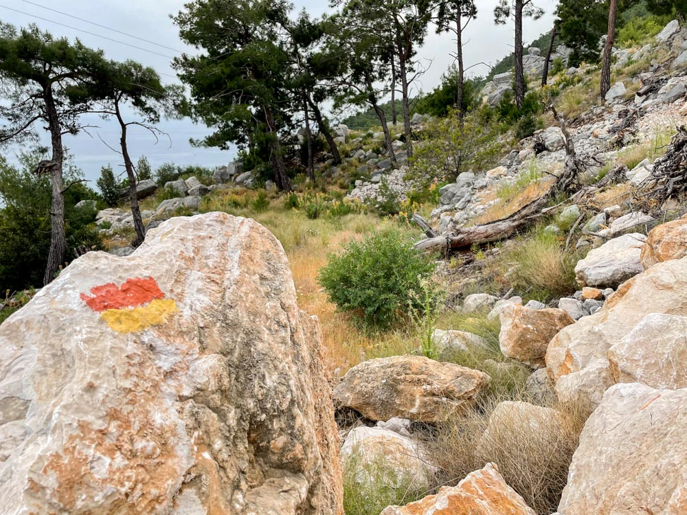 Konayaaltı trail marking