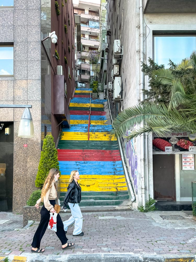 Painted stairs in Istanbul