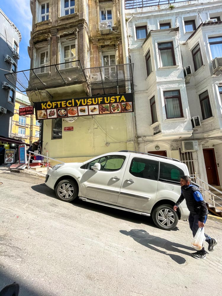 Steep streets of Istanbul