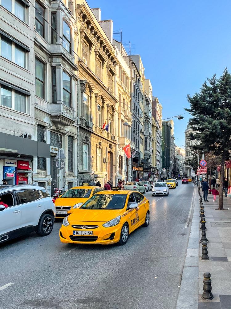 Streets near Taksim square