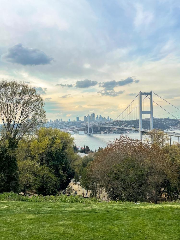 View of the Bosphorus bridge