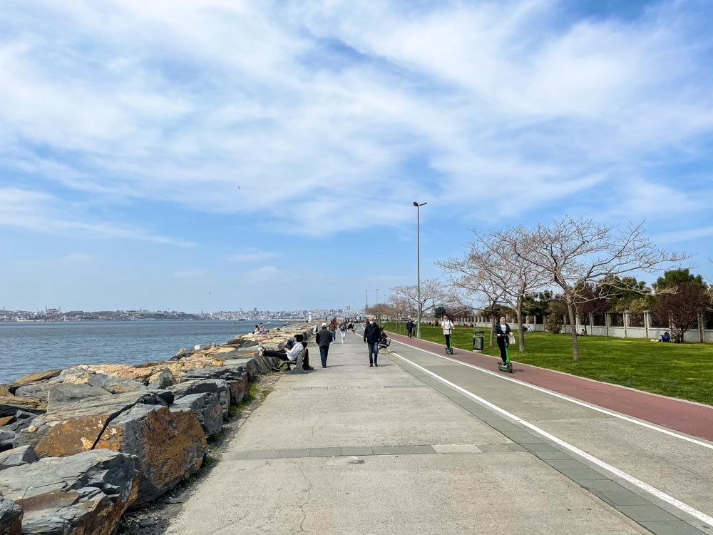 Walking on the Asian side of Istanbul