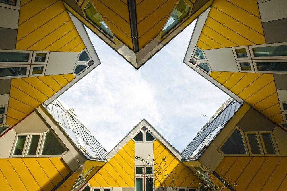 Yellow houses in Rotterdam