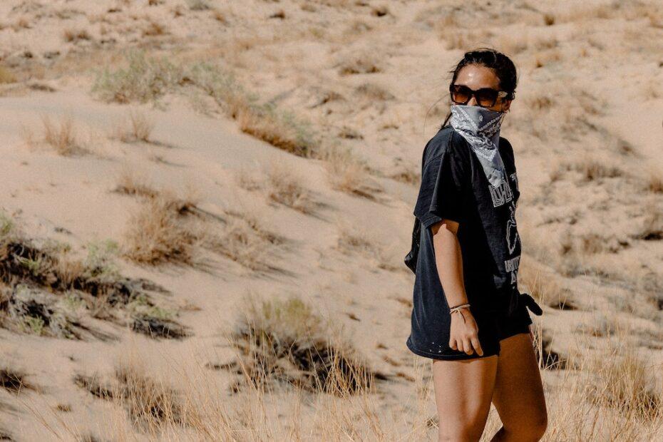 Woman with a bandana