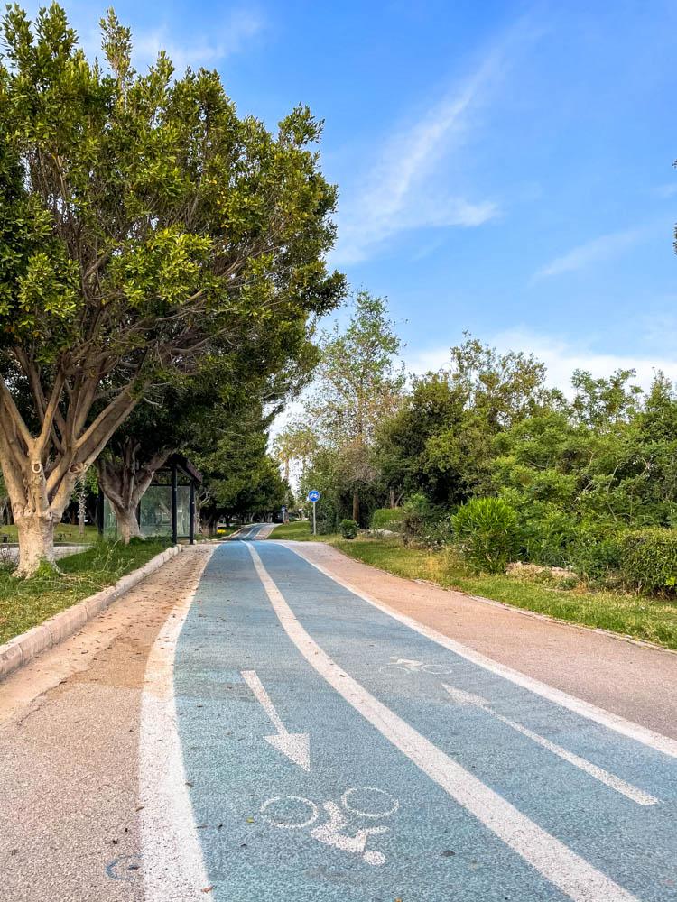 Bike path through Ataturk Kultur park