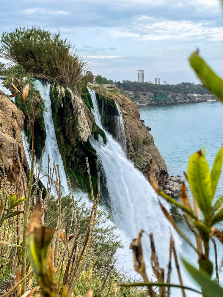 Duden Waterfall and the sea